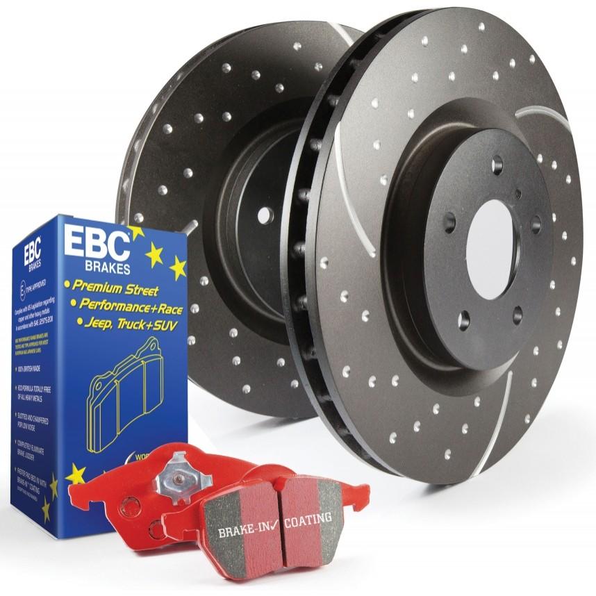 Bmw Z3 Turbo: Bremsepakke Redstuff + Turbo Grooved Discs Bremser Til BMW